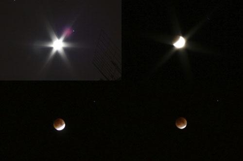Eclipse de luna en Oviedo