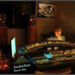 Mezclando el disco con Mike Stav en Australia