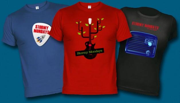 Nueva tienda de camisetas de Stormy Mondays