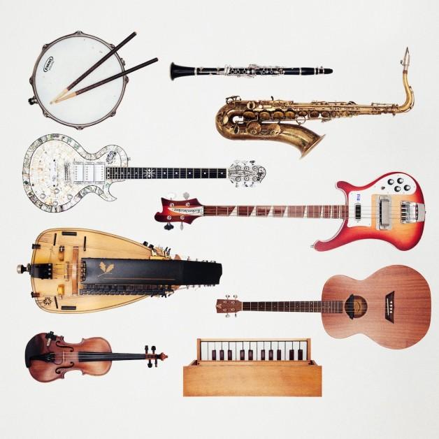 Instrumentos para un concierto de Rock & Folk & Roll